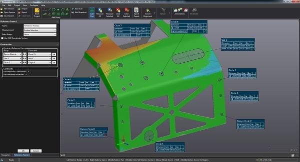 vx inspect- scanner 3D - scanning 3D - digitalização 3D - metrologia industrial - software controlo e inspecção dimensional - s4metro