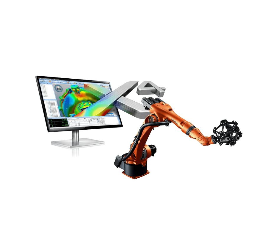 X4 i-Robot Metrolog - software inspecção e controlo dimensional - metrologia industrial - s4metro - metrascan - scanner 3d